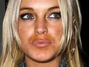 Lindsay Lohan oranje