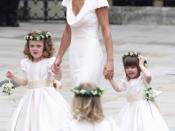 Pippa Middleton tijdens de trouw