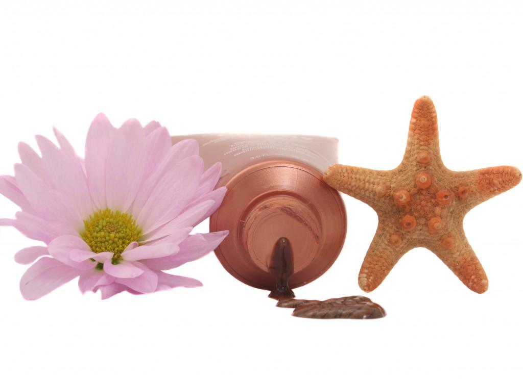 zelfbruiner lotion met bloem